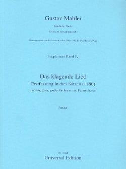 Das Klagende Lied - Partitur - Gustav Mahler - laflutedepan.com