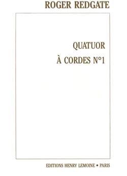 Roger Redgate - Quatuor à cordes n° 1 –Conducteur + Parties - Partition - di-arezzo.fr