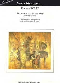 Etienne Rolin - Etudes et Inventions - Partition - di-arezzo.fr