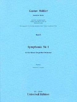 Gustav Mahler - Symphonie Nr. 1 D-Dur – Partitur - Partition - di-arezzo.fr