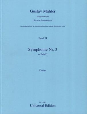Symphonie N° 3 D-Moll - Partitur MAHLER Partition laflutedepan