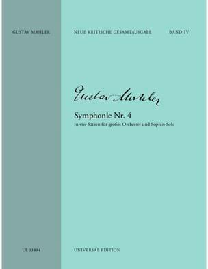 Symphonie N° 4 G-Dur - Partitur - Gustav Mahler - laflutedepan.com