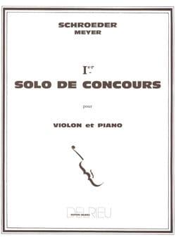 Schroeder Hermann / Meyer Jean - Solo de Concours n° 1 en Sol Majeur - Partition - di-arezzo.fr