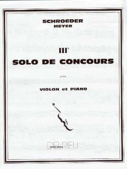 Schroeder Hermann / Meyer Jean - Solo Contest # 3 in G Major - Sheet Music - di-arezzo.co.uk