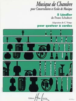 SCHUBERT - 5 Ländler - Quatuor à cordes - Partition - di-arezzo.fr