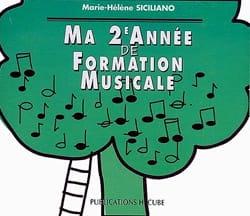 SICILIANO - CD / Ma 2ème année de formation musicale - Partition - di-arezzo.fr
