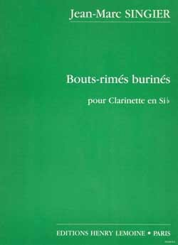 Jean-Marc Singier - Bouts-rimés burinés - Partition - di-arezzo.fr