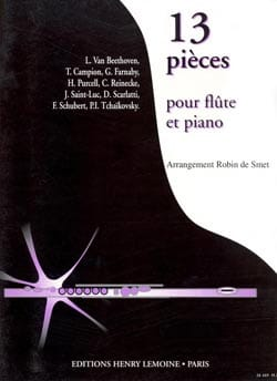 Robin de Smet - 13 Pièces – Flûte et piano - Partition - di-arezzo.fr