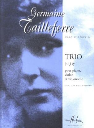 Trio Germaine Tailleferre Partition Trios - laflutedepan