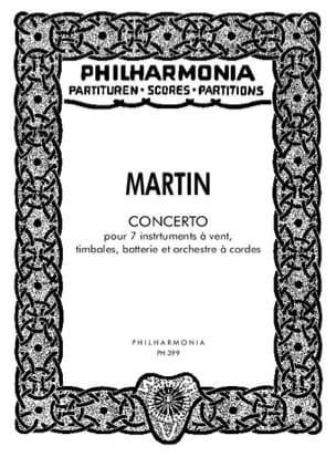 Frank Martin - Concerto pour 7 instruments -Partitur - Partition - di-arezzo.fr