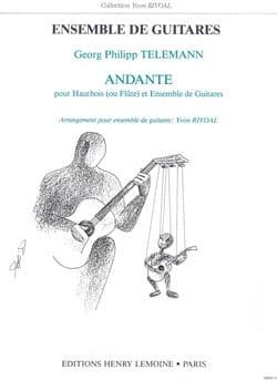 Georg Philipp Telemann - Andante - Hautbois (ou flûte) et ensemble guitares - Partition - di-arezzo.fr