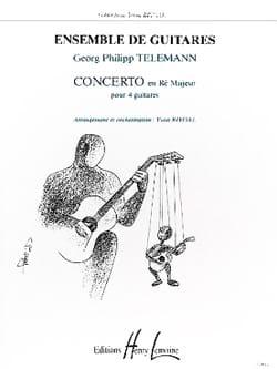 Concerto en ré majeur pour 4 guitares TELEMANN Partition laflutedepan