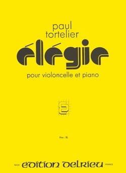 Elégie Paul Tortelier Partition Violoncelle - laflutedepan