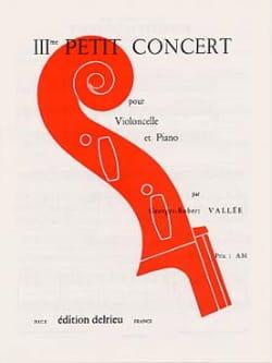 Georges-Robert Vallée - Petit Concert n° 3 - Partition - di-arezzo.fr