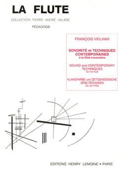 François Veilhan - Sonorité et techniques contemporaines - Partition - di-arezzo.fr
