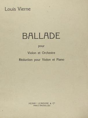 Louis Vierne - Ballade op. 52 - Partition - di-arezzo.fr