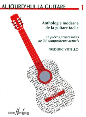 Frédéric Vitiello - Today the guitar - Volume 1 - Sheet Music - di-arezzo.co.uk