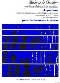 Voirpy C. / Voirpy A. - 4 Quatuors pour cordes - Partition - di-arezzo.fr
