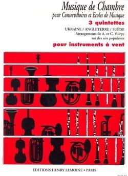 Voirpy A. / Voirpy C. - 3 Quintettes pour instr. à vent - Partition - di-arezzo.fr