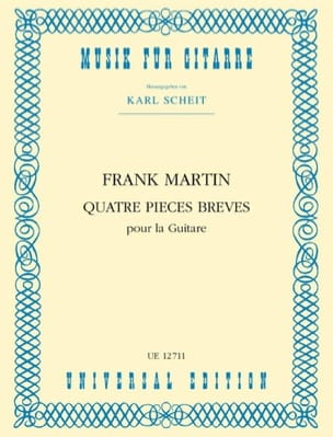 Frank Martin - 4 short pieces for the guitar - Sheet Music - di-arezzo.co.uk