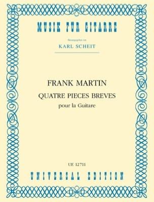 Frank Martin - 4 short pieces for the guitar - Sheet Music - di-arezzo.com