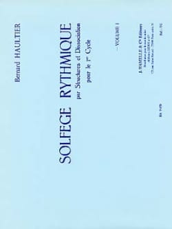 Solfège Rythmique Volume 1 Bernard Haultier Partition laflutedepan