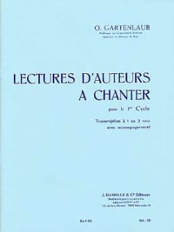 Odette Gartenlaub - Lectures d'auteurs à chanter – 1er Cycle - Partition - di-arezzo.fr