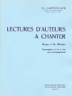 Odette Gartenlaub - Lectures d'auteurs à chanter - Moyen à Fin d'études - Partition - di-arezzo.fr