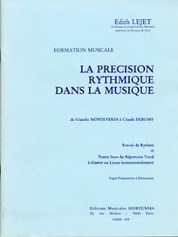 Edith Lejet - The rhythmic precision ... - Preparatory to Elementary - Sheet Music - di-arezzo.co.uk