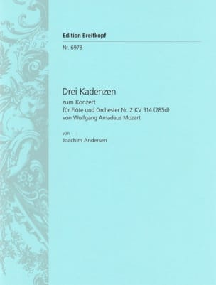 3 Kadenzen zum Konzert Nr. 2 für Flöte KV 314 - Flöte solo laflutedepan