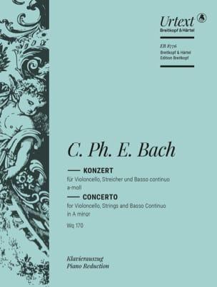 Carl Philipp Emanuel Bach - Concerto Violoncelle la mineur Wq 170 - Partition - di-arezzo.fr