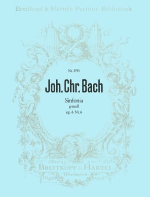 Johann Christian Bach - Sinfonia g-moll op. 6/6 - Partition - di-arezzo.fr