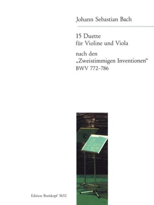 BACH - Duette nach Zweistimmigen Inventionen BWV 772-786 - Sheet Music - di-arezzo.co.uk