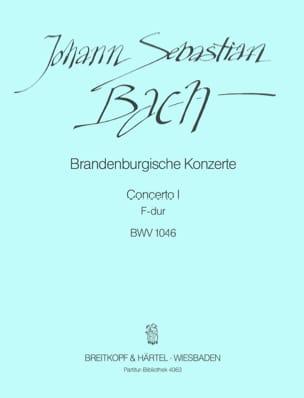 BACH - Brandenburgisches Konzert Nr. 1 F-Dur BWV 1046 - Conducteur - Partition - di-arezzo.fr