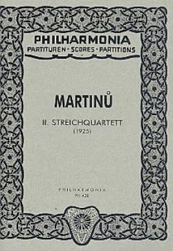 Streichquartett Nr. 2 - Partitur - Bohuslav Martinu - laflutedepan.com