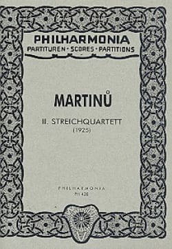 Streichquartett Nr. 2 - Partitur MARTINU Partition laflutedepan