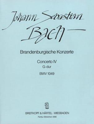 Johann Sebastian Bach - Brandenburgisches Konzert Nr. 4 G-Dur BWV 1049 - Conducteur - Partition - di-arezzo.fr