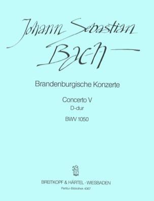 Johann Sebastian Bach - Brandenburgisches Konzert Nr. 5 D-Dur – Partitur - Partition - di-arezzo.fr
