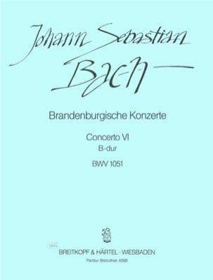 BACH - Brandenburgisches Konzert Nr. 6 B-Dur - Partition - di-arezzo.fr