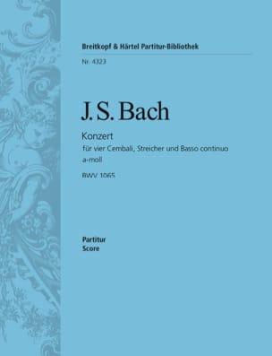 Johann Sebastian Bach - Konzert für 4 Cembali a-moll BWV 1065 – Conducteur - Partition - di-arezzo.fr