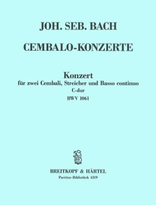 BACH - Konzert C-Dur for 2 Cembali BWV 1061 - Driver - Sheet Music - di-arezzo.co.uk