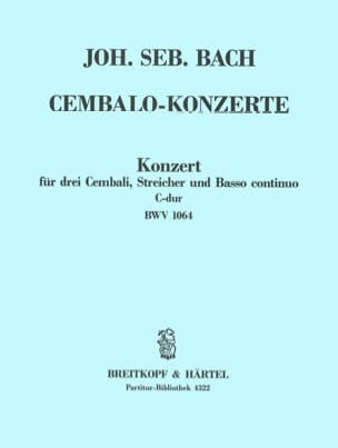 Johann Sebastian Bach - Konzert C-Dur BWV 1064 für 3 Cembali – Conducteur - Partition - di-arezzo.fr