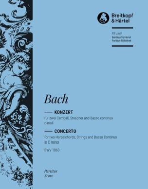 Johann Sebastian Bach - Konzert c-moll für 2 Cembali BWV 1060 – Conducteur - Partition - di-arezzo.fr