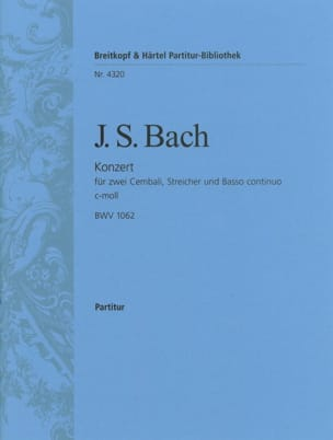 BACH - Konzert c-moll for 2 Cembali BWV 1062 - Driver - Sheet Music - di-arezzo.co.uk