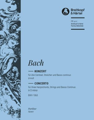 BACH - Konzert d-moll für 3 Cembali BWV 1063 - Conducteur - Partition - di-arezzo.fr