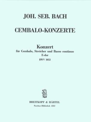 BACH - Cembalo-Konzert E-Dur BWV 1053 – Conducteur - Partition - di-arezzo.fr