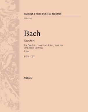 Johann Sebastian Bach - Cembalokonzert F-Dur - Partition - di-arezzo.fr