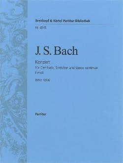 Cembalo-Konzert f-moll BWV 1056 - Conducteur BACH laflutedepan
