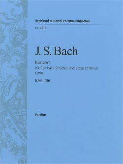 Johann Sebastian Bach - Cembalo-Konzert f-moll BWV 1056 – Conducteur - Partition - di-arezzo.fr