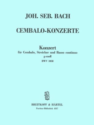 BACH - Cembalokonzert G-Moll, BWV 1058 - Partition - di-arezzo.fr